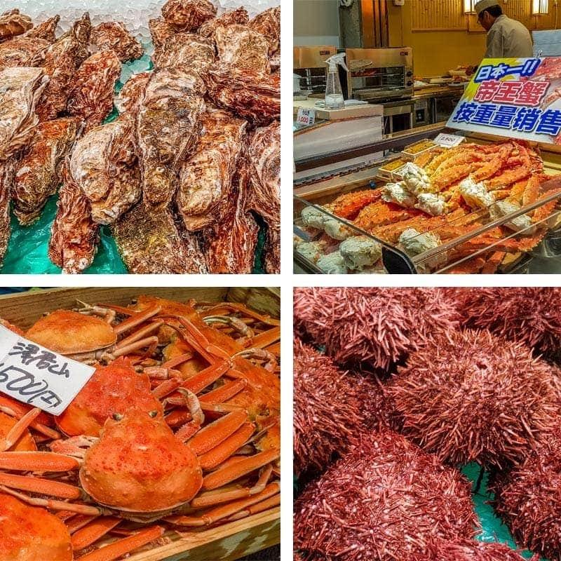 Kuromon market seafood