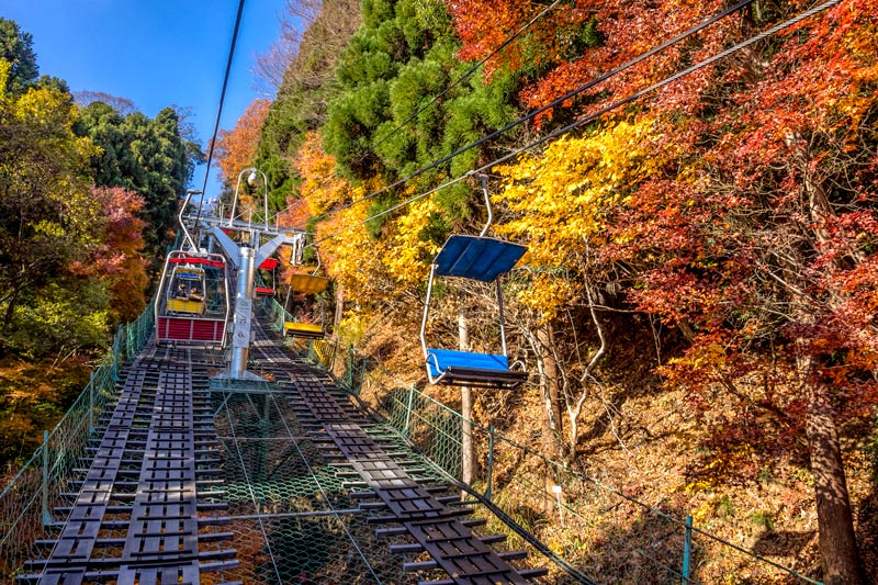 Chair lift at Mount Takao