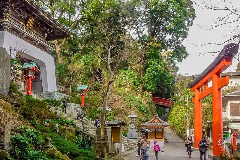 Enoshima Island torii