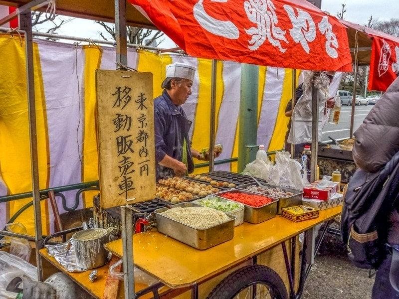 Takoyaki grill during sakura