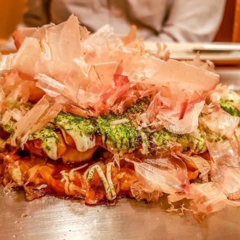 okonomiyaki in Osaka