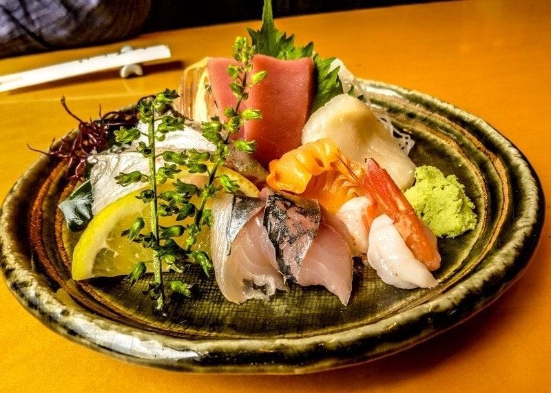 Sashiimi in Tsukuji