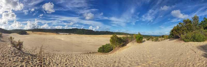 Hammerstone sandblow on Fraser Island