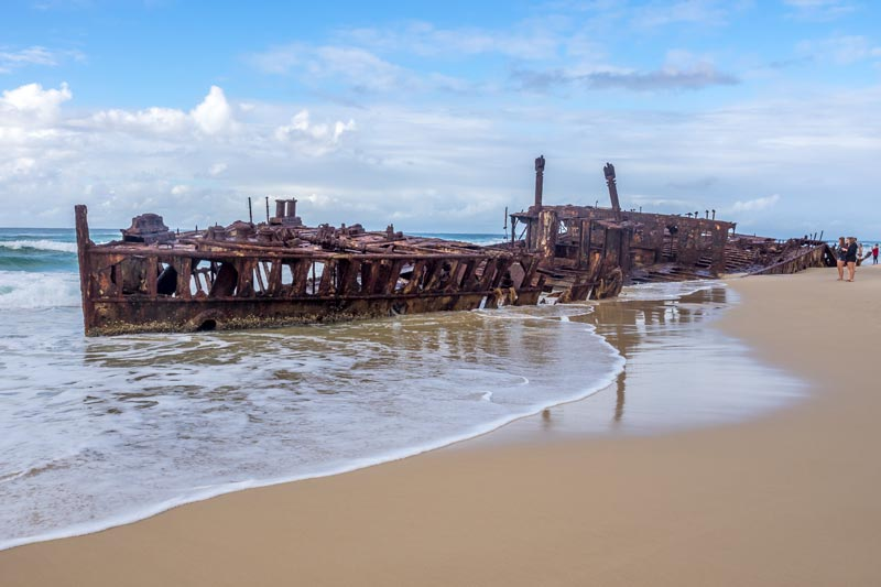 Wreck of the Maheno on Fraser Island