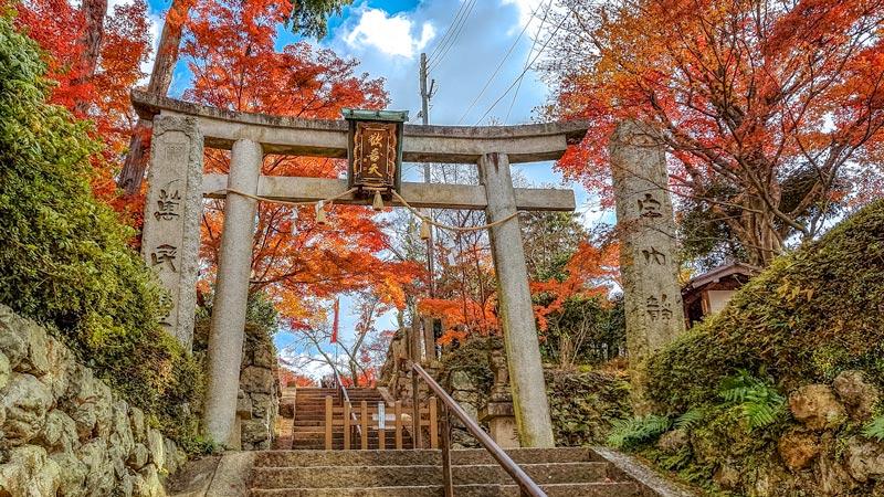 Shotengu Saikoji Temple in Minoo Park