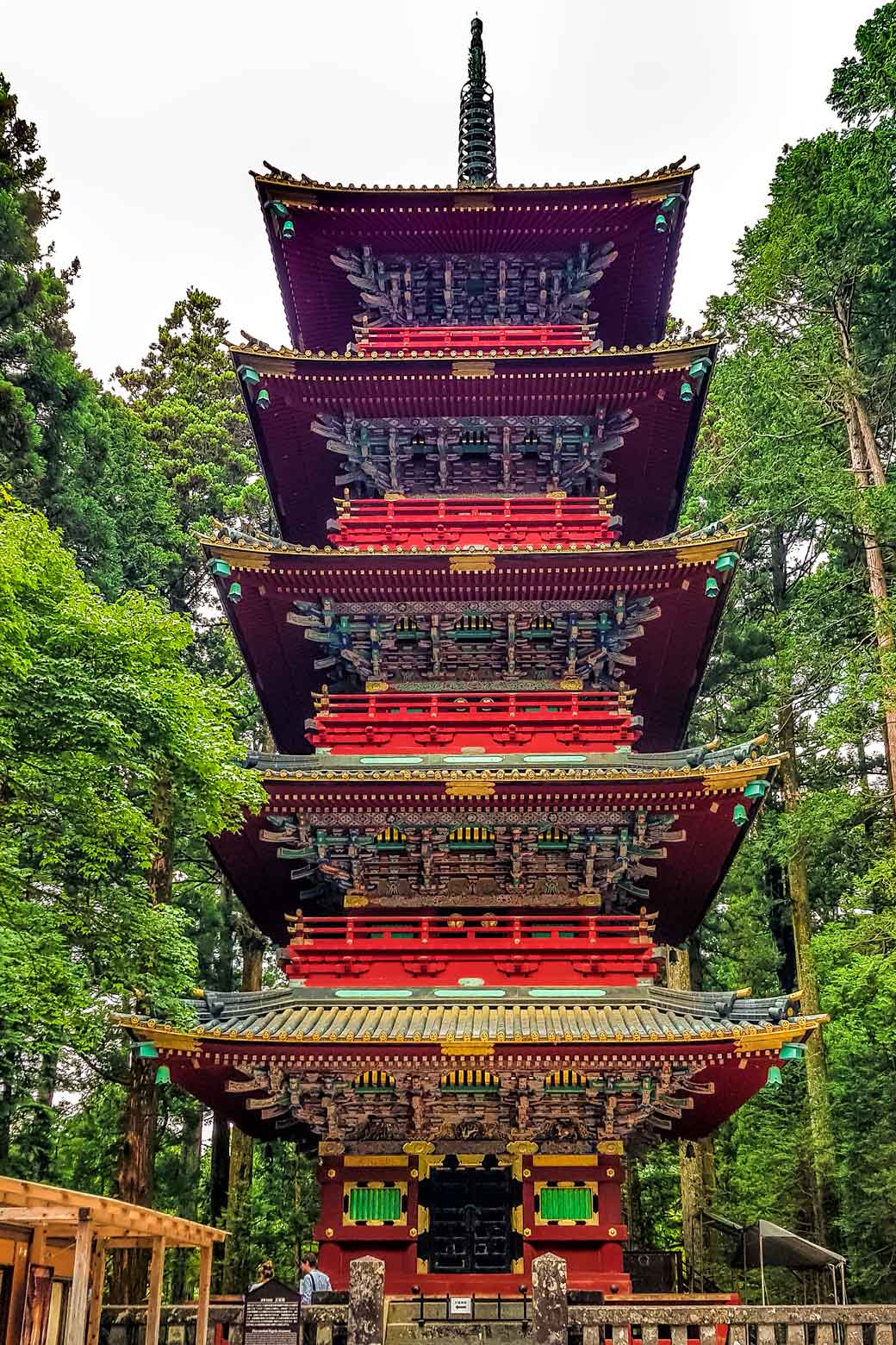 Ornate historic pagoda in Nikko
