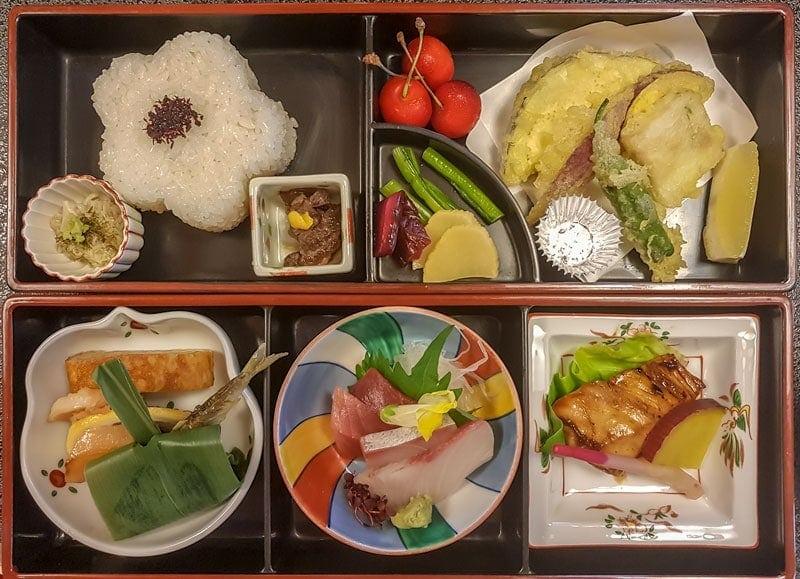 Meal at Kawashima in Kawagoe