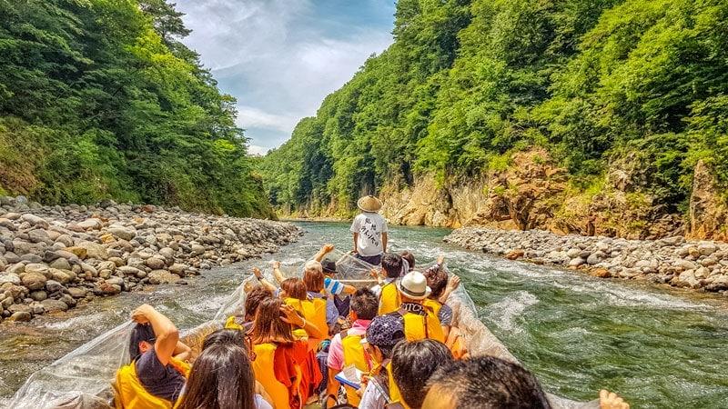 Kinugawa river boats