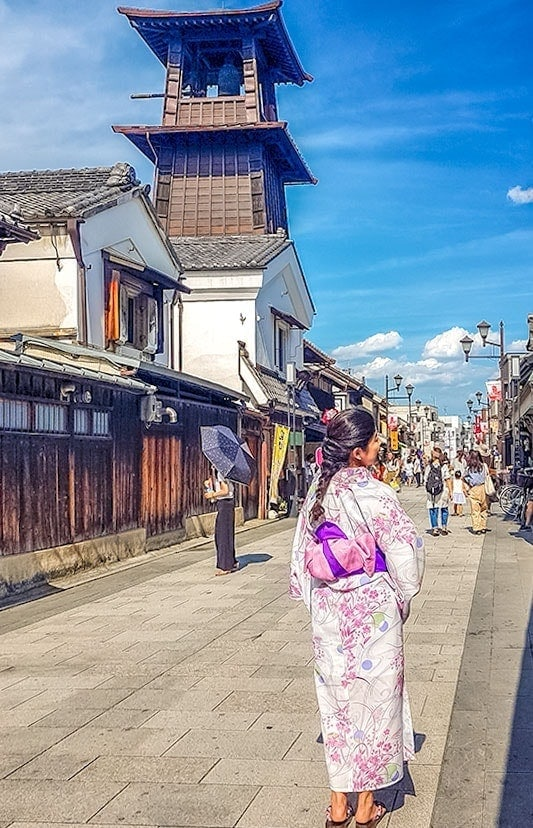 Explore Kawagoe in a yakata