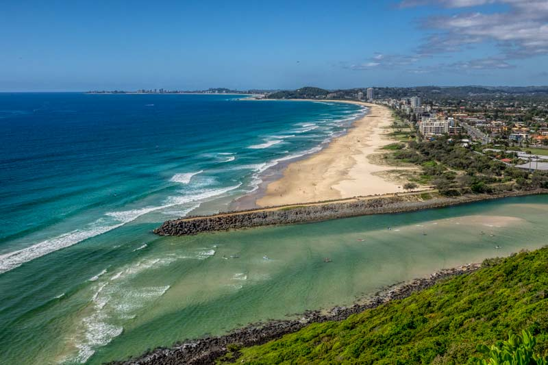 The view from Burleigh Heads