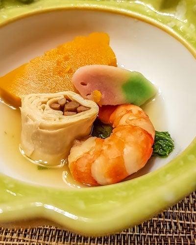Kaiseki meal at Kinugawa Grand Hotel