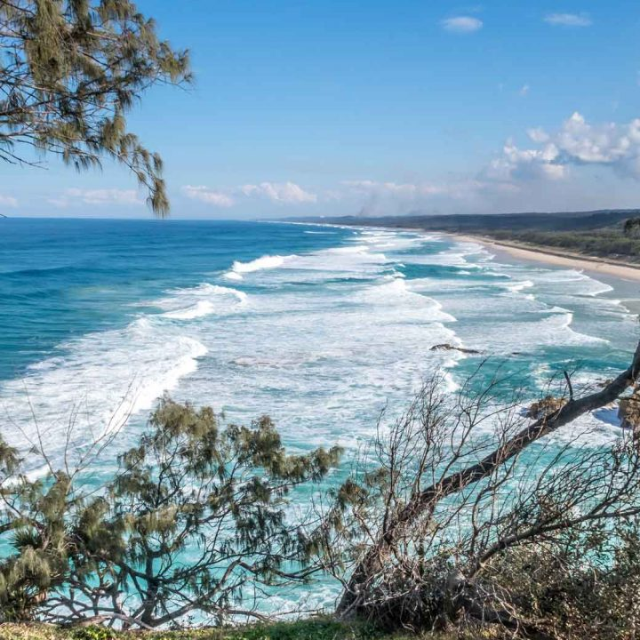 View from the lookout on North Stradbroke Island