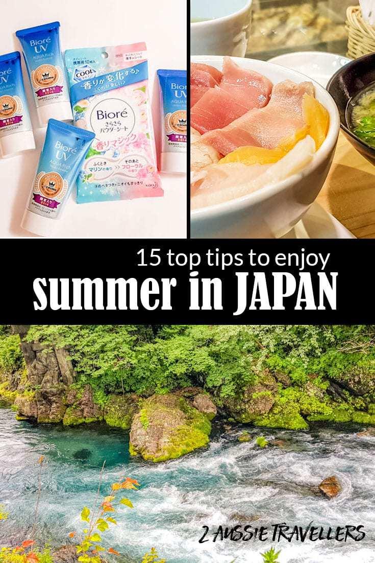 Enjoy summer in Japan