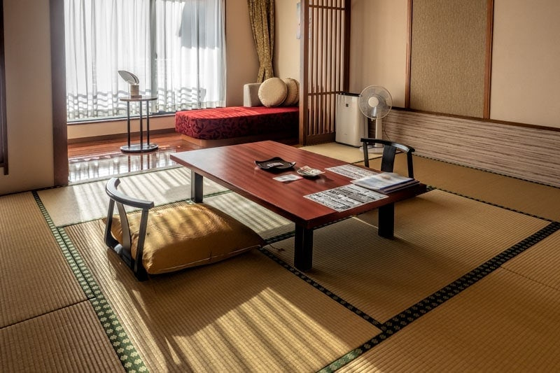 Tatami room in Kinugawa Grand Hotel