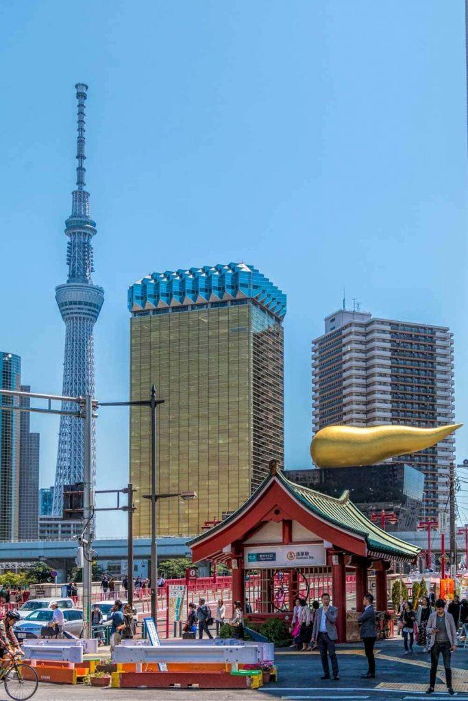 Asahi buildings in Asakusa