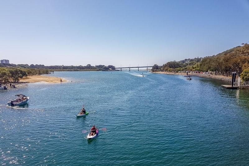 Kayak en Currumbin Creek
