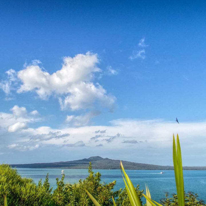 Rangitoto Island from Savage Memorial in Auckland