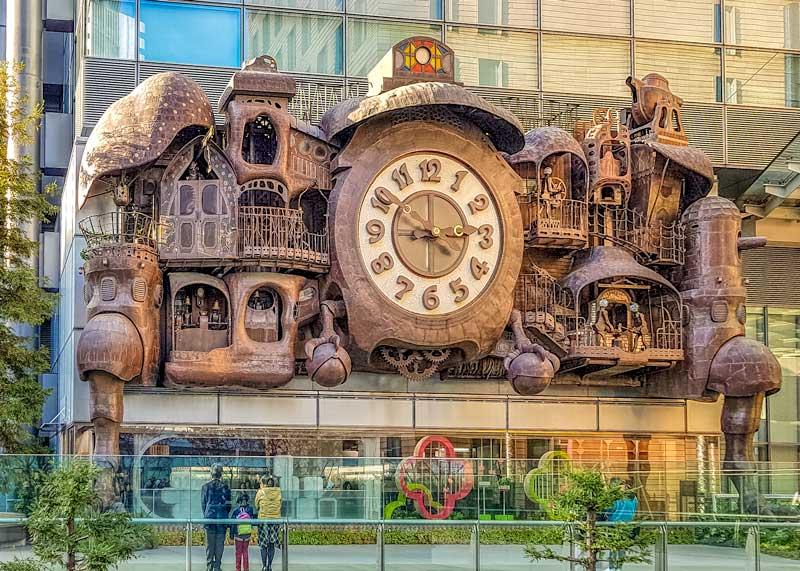 Giant Ghibli Clock in Tokyo
