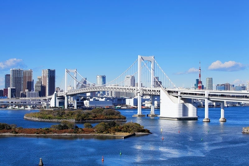 View from Odaiba Tokyo