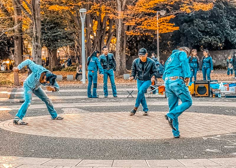 Rock and Roll dancers at Yoyogi park in Tokyo