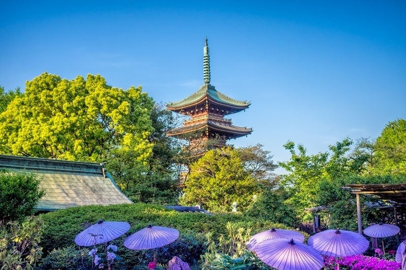 Pagoda in Ueno park