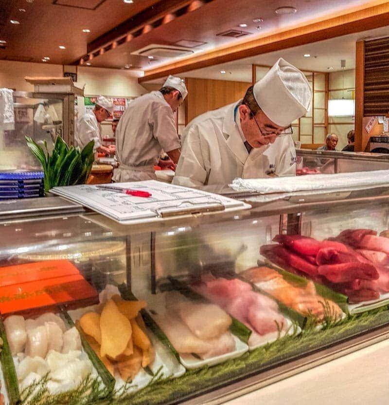 Sushi bar in Ueno