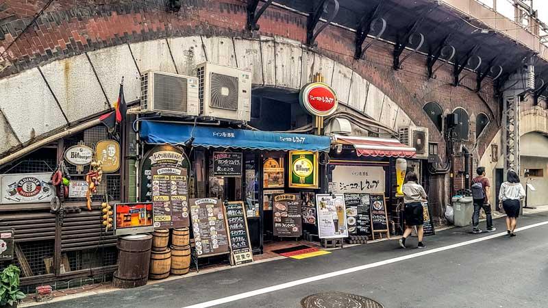 Gado-shita restaurants in Yurakucho