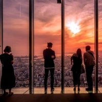 Visit the Abeno Harukas 300 Observatory for incredible views over Osaka