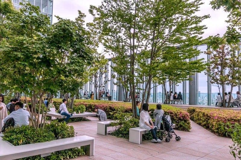 Level 16 garden floor at Abeno Harukas 300
