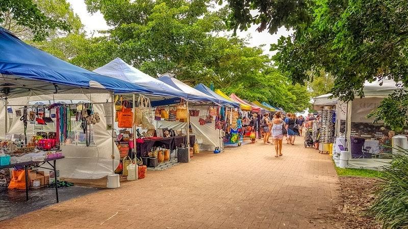 Mercados de Hervey Bay en el muelle