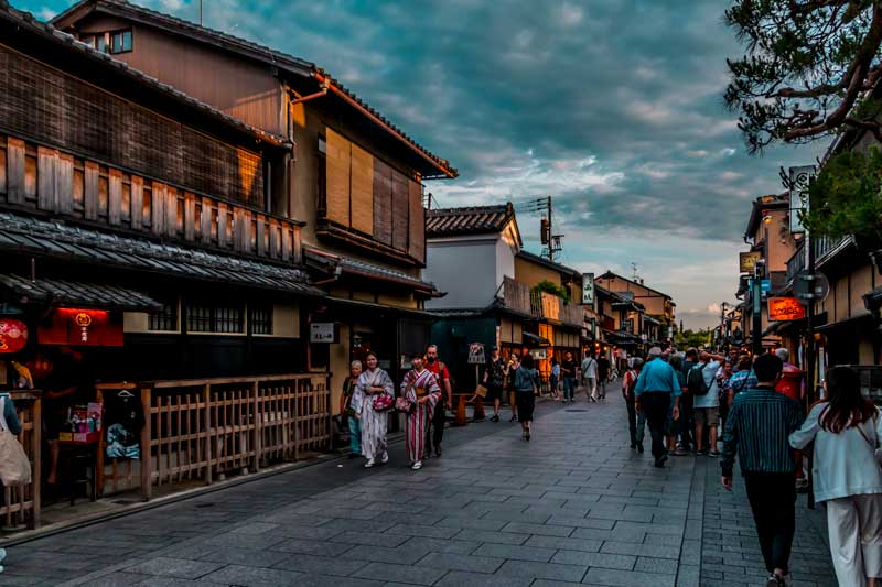Headed our in Gion on Kyoto food tour