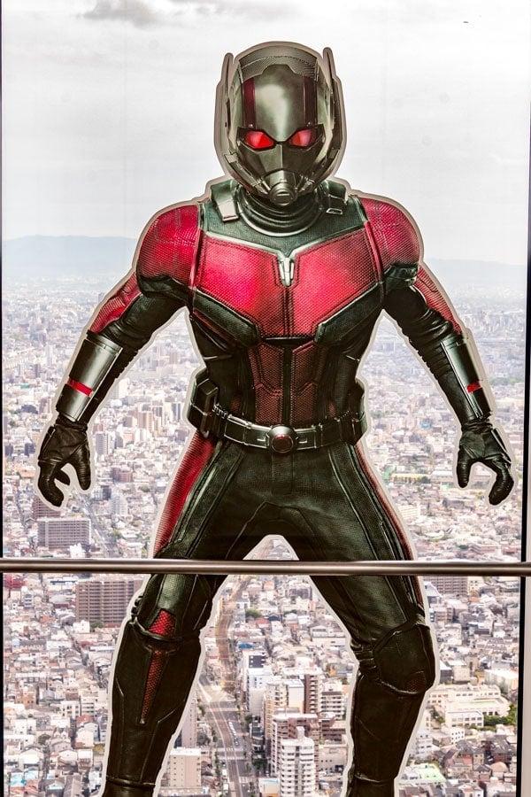 Antman Marvel at Harukas 300