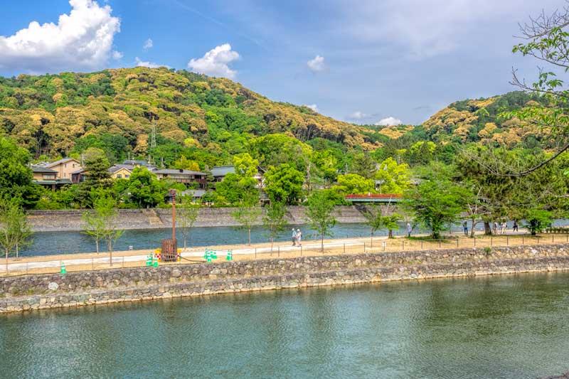 Tachibanajima island in Uji, Japan