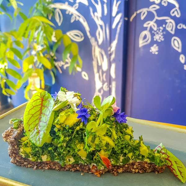 Green tart at Organic Feast