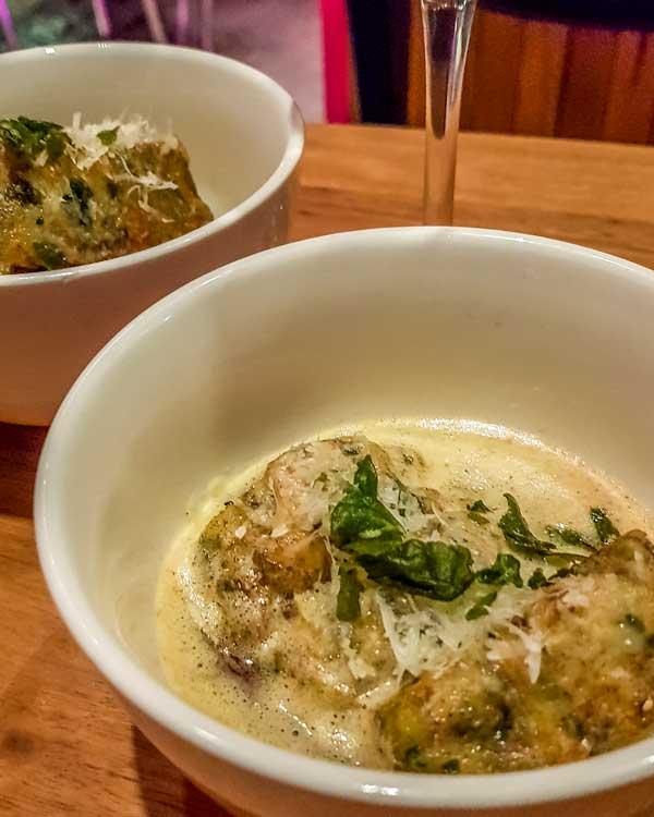 Ricotta gnocchi and warrigal greens