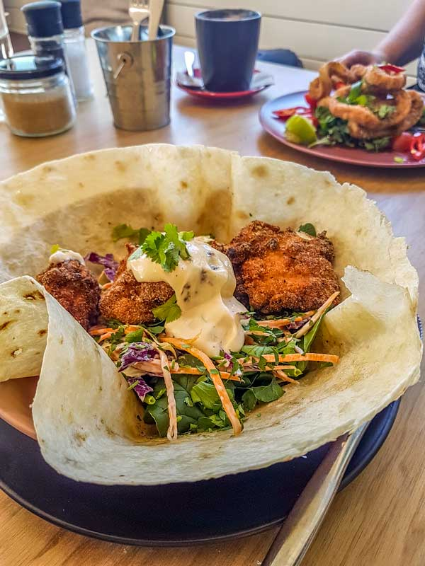 Southern fry chicken taco at Common Grounds