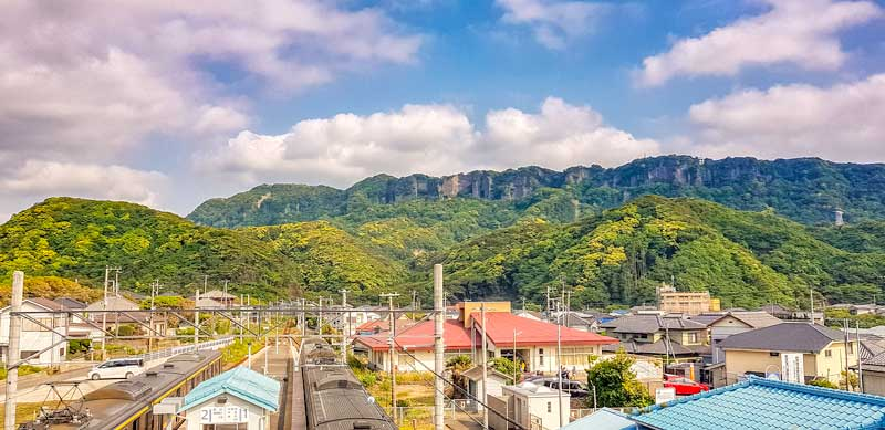 Nokogiriyama from the train station