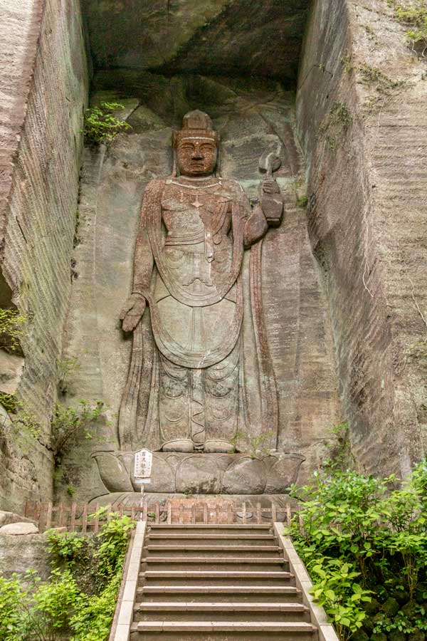The 100 shaku kannon at Mt Nokogiri