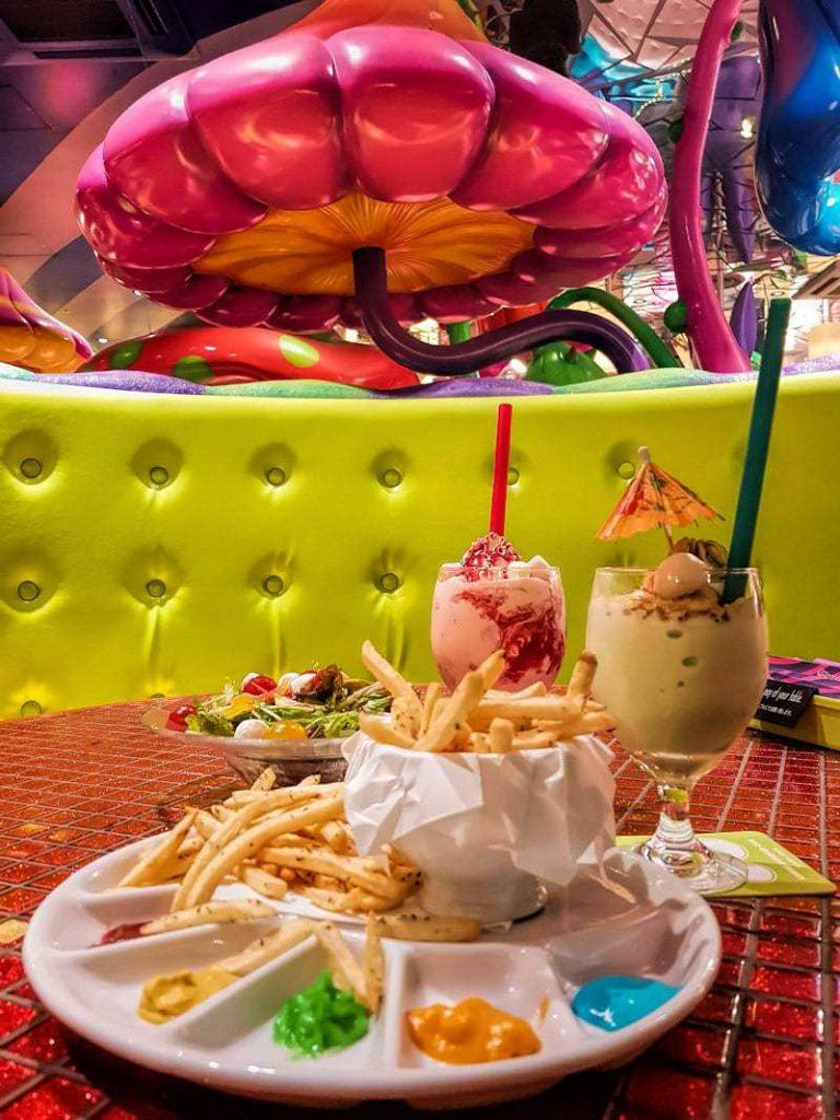 Colourful meals at Kawaii Monster Cafe in Harajuku