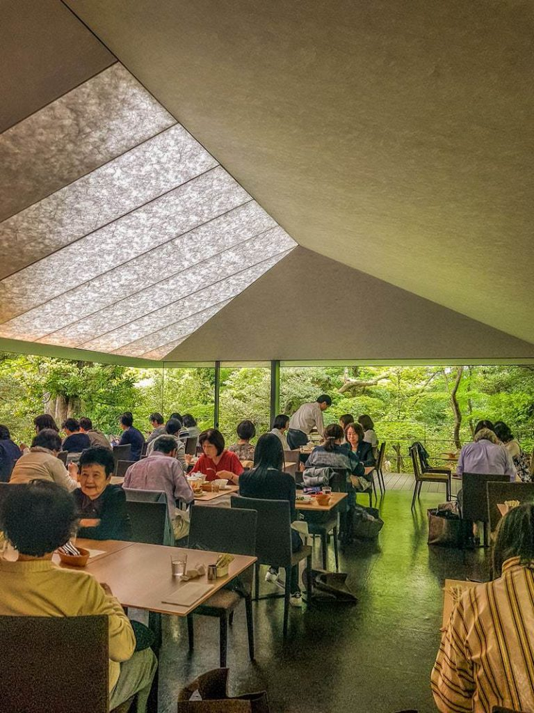 Nezu cafe overlooking the gardens at Nezu Museum in Tokyo