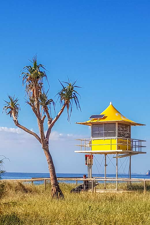 Lifeguard tower on the Gold Coast