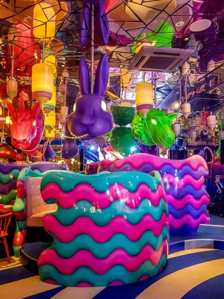 Inside the milky bar section of the Kawaii Monster Cafe in Harajuku, Tokyo