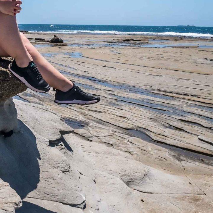 Tropicfeel Canyon all terrain shoes at Shelly Beach, Sunshine Coast