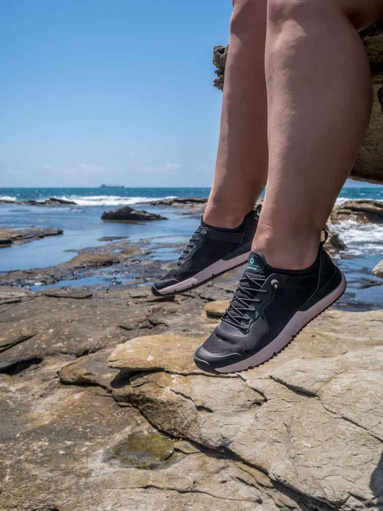 Wearing the Tropicfeel Canyon to explore the rock pools at Shelly Beach
