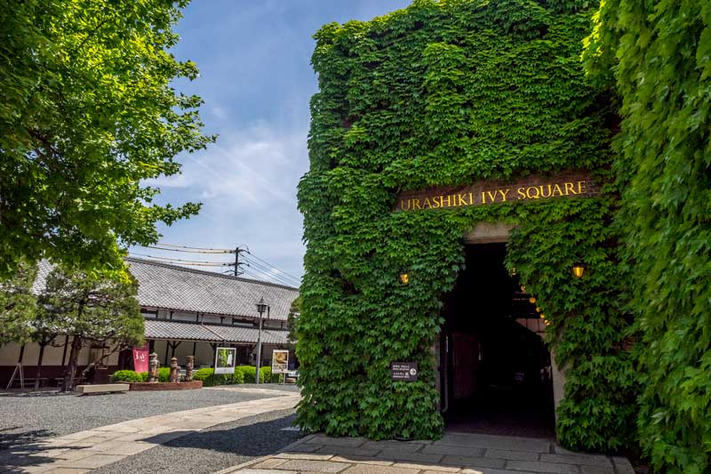 Ivy covered building in Kurashiki Ivy Square in Japan