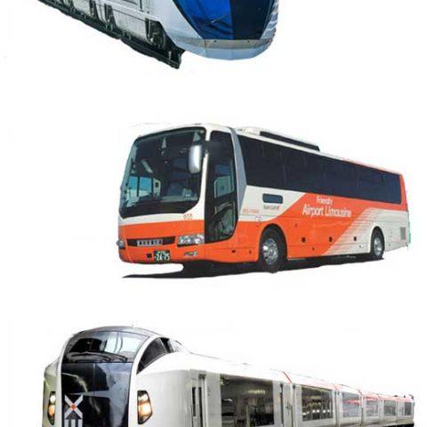 buses and trains that run between Narita airport and Tokyo city