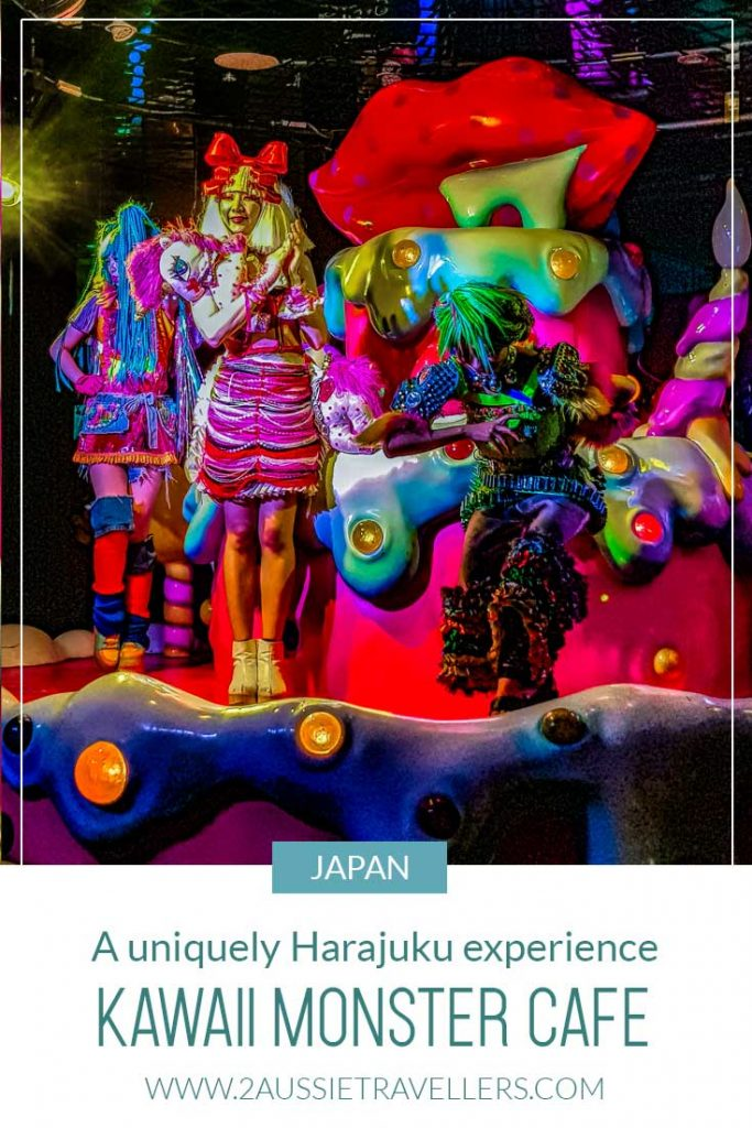 Performers on stage at Kawaii Monster Cafe in Harajuku