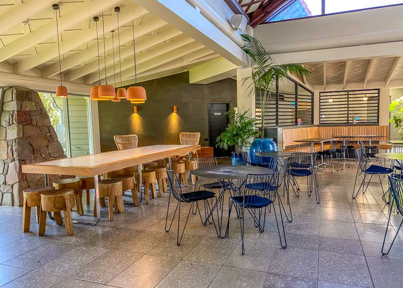Cafe at the Polynesian Spa in Rotorua