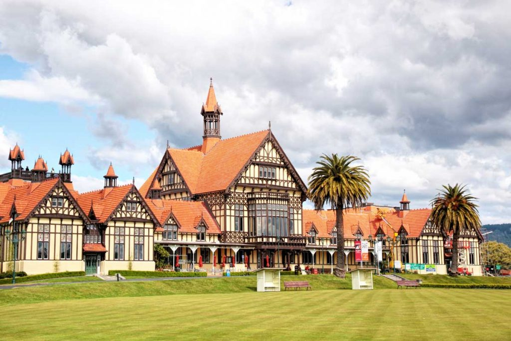The Tudor style Rotorua museum buiding was originally a Victorian bathhouse