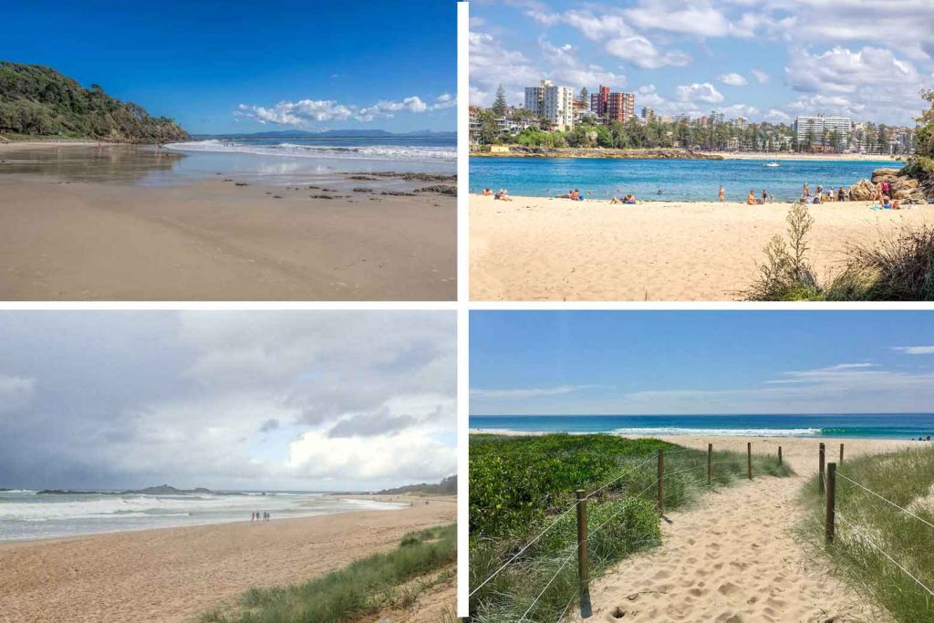 Grid of photos of some of NSW best beaches